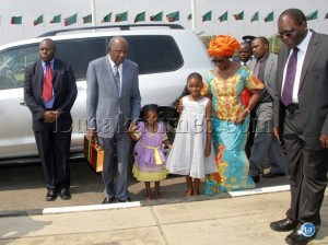Finance Minister Alexander Chikwanda and family. Photo source: Lusaka Times