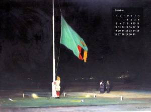 The raising of the flag on October 24th, 1964. Photo source: Experience Zambia